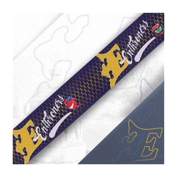 Kék csatos nyakpánt levehető kulcstartóval