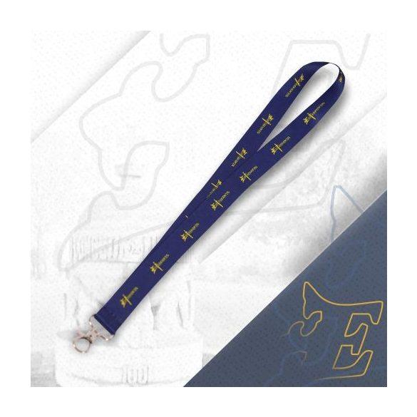 Kék nyakpánt kardos logóval