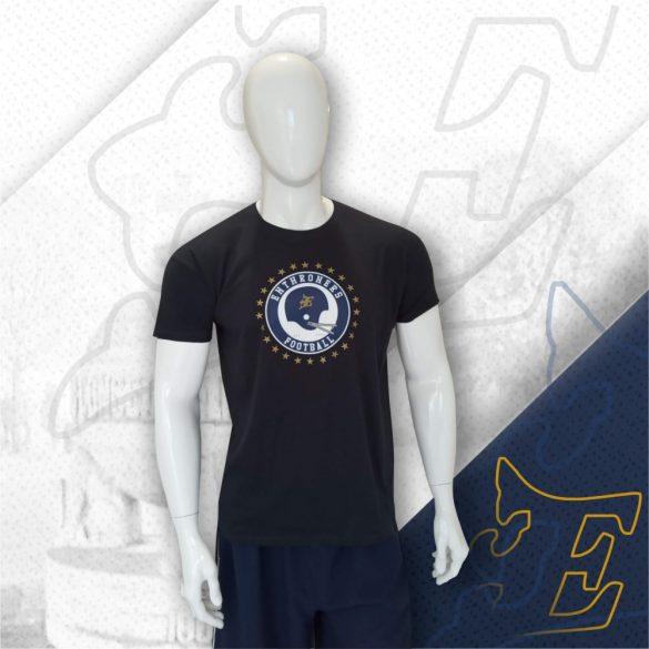 Kék póló sisakos mintával